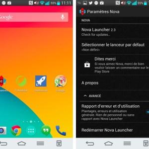 Nova Launcher 2.3 : comme un goût de KitKat dans la version finale sur Android !
