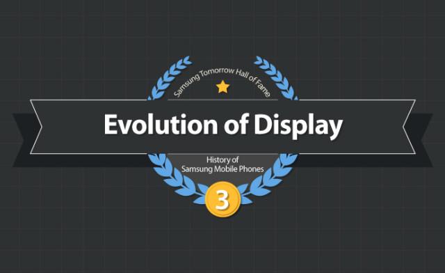Samsung : infographie sur l'évolution des écrans des téléphones mobiles