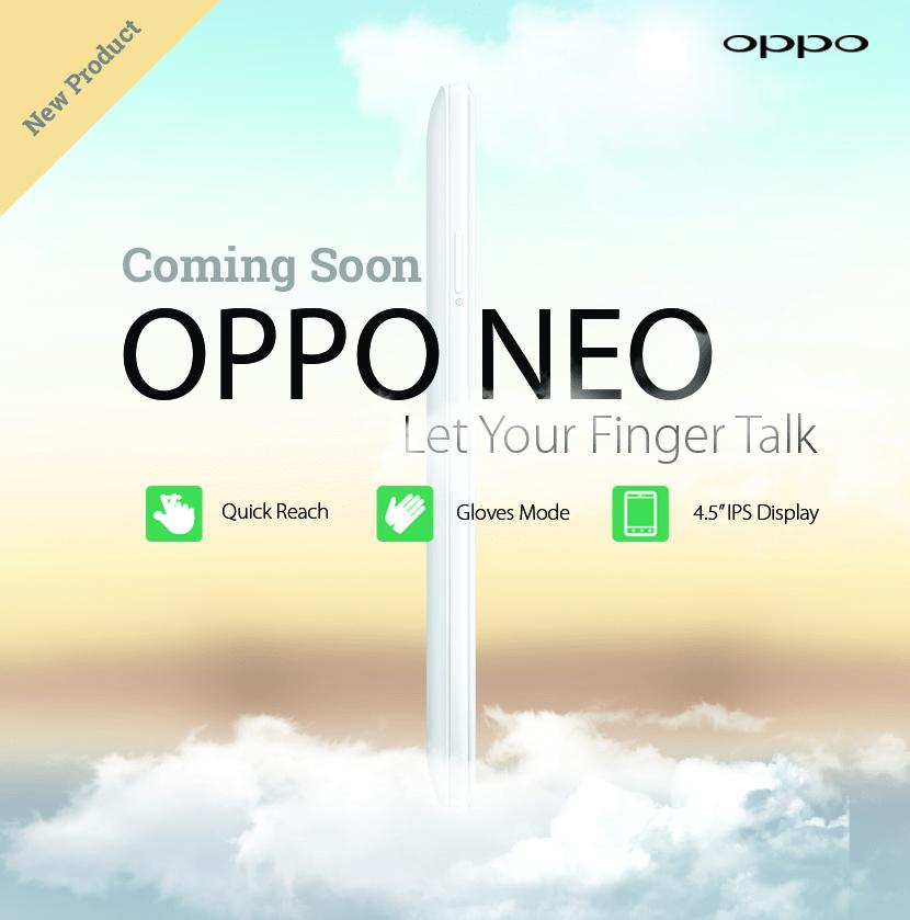 Neo, le prochain smartphone d'Oppo utilisable avec des gants
