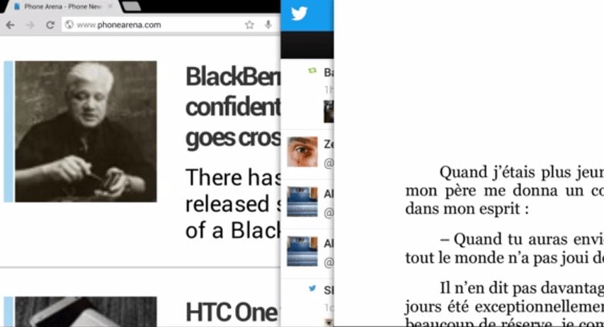 Le multi-fenêtres selon OmniROM a un petit goût de webOS