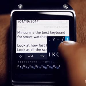 Minuum propose un SDK pour étendre sa compatibilité sur les wearable devices