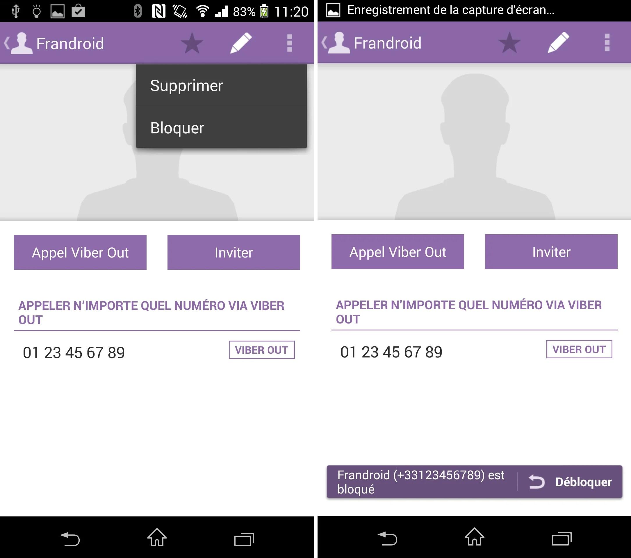 L'application Viber autorise le blocage des appels indésirables
