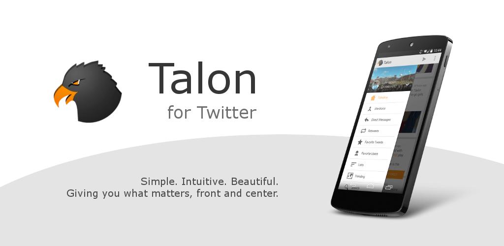 Talon for Twitter, un nouveau client twitter séduisant arrive sur Android