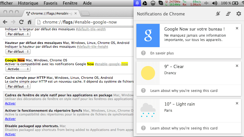 Chrome Canary s'offre Google Now en version web