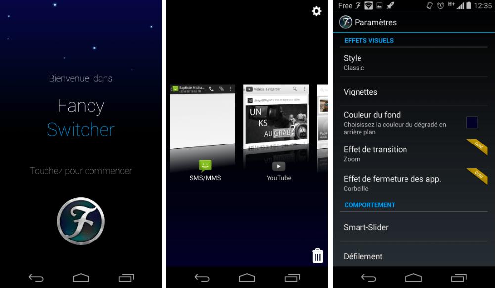 Fancy Switcher, un gestionnaire de tâches alternatif sur Android
