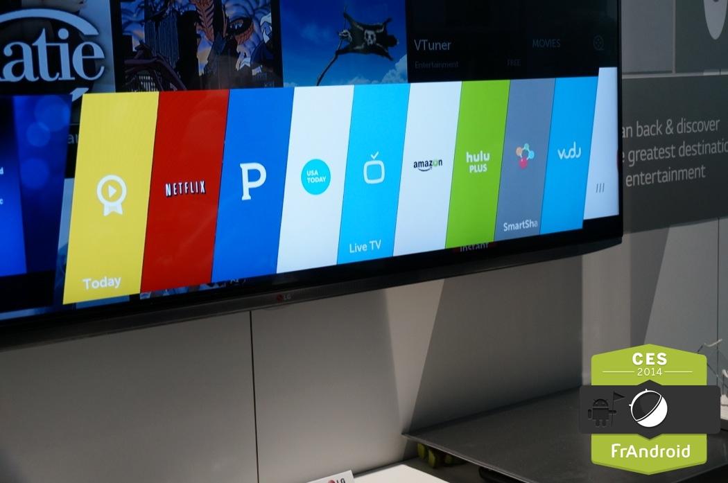 CES 2014 : la résurrection de webOS au sein d'une TV chez LG
