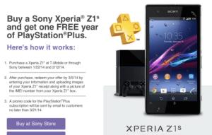 Bon plan : 1 an d'abonnement Playstation Plus pour les possesseurs du Xperia Z1, Z1 Compact et Z Ultra
