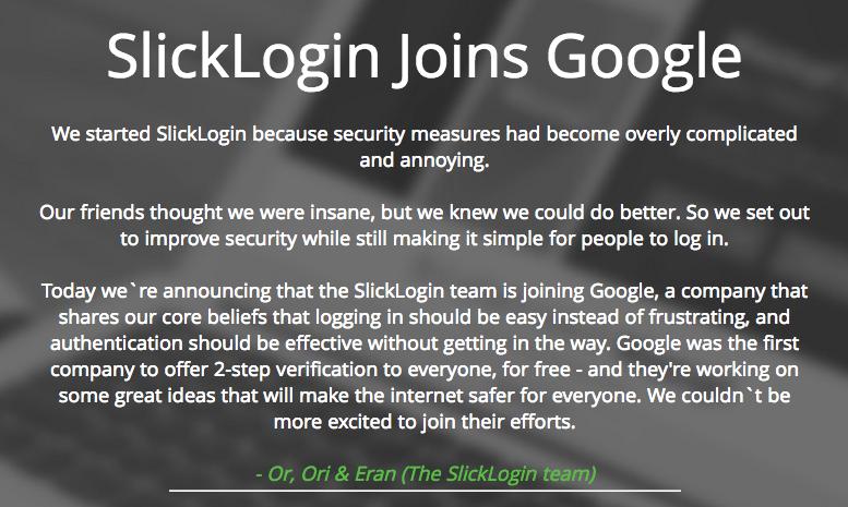 Google rachète SlickLogin, vers de l'authentification par reconnaissance sonore