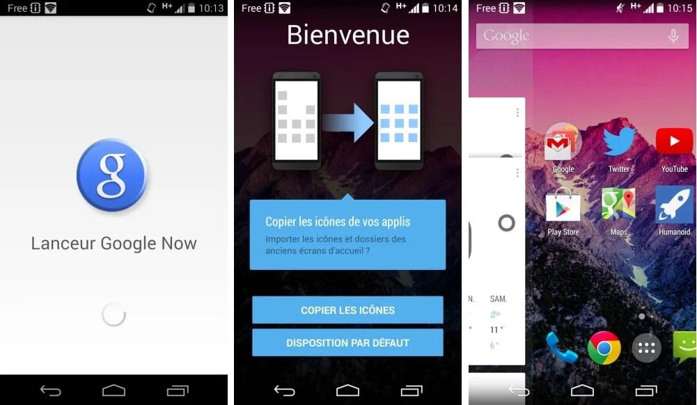Google Experience Launcher devient Google Now Launcher