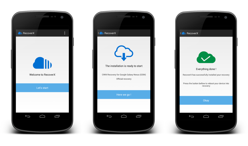 RecoverX, une app pour installer votre recovery favori en trois clics sur Android