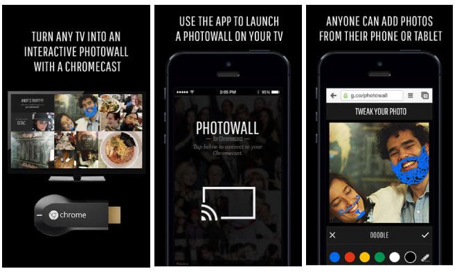 Photowall pour Chromecast, le collage interactif de photos sur votre TV