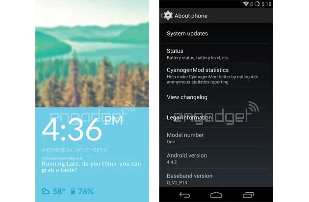 OnePlus One : un premier aperçu de CyanogenMod 11S