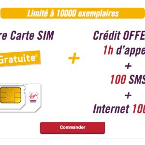 Bon plan : Virgin Mobile offre une carte SIM avec 1 heure d'appel, 100 SMS et 100 Mo de data