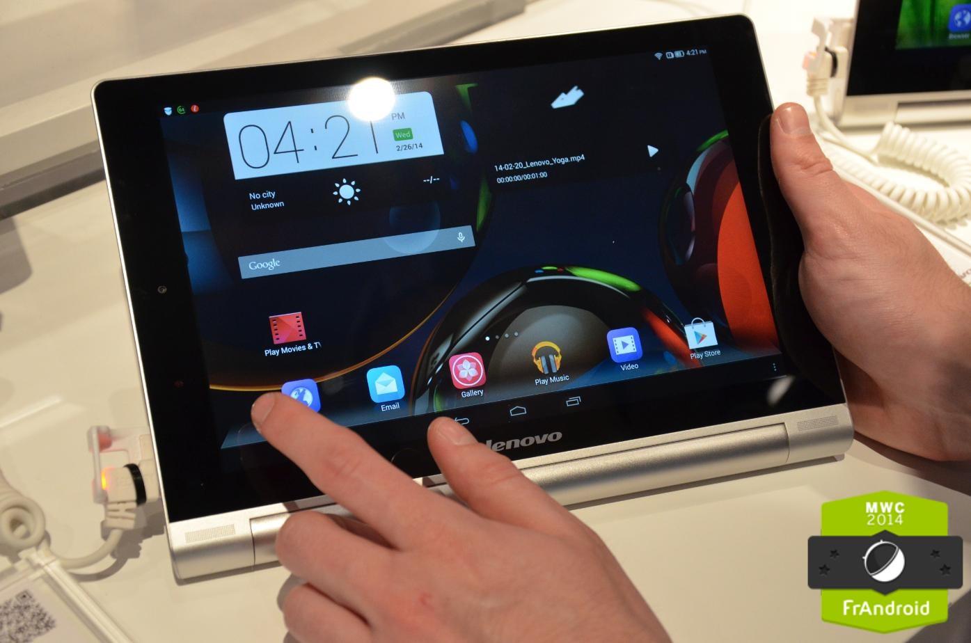 Prise en main du Lenovo Yoga 10HD+, la tablette Android sous trois angles