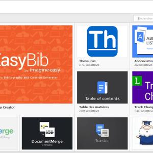 Google Docs : Une boutique pour installer des add-on