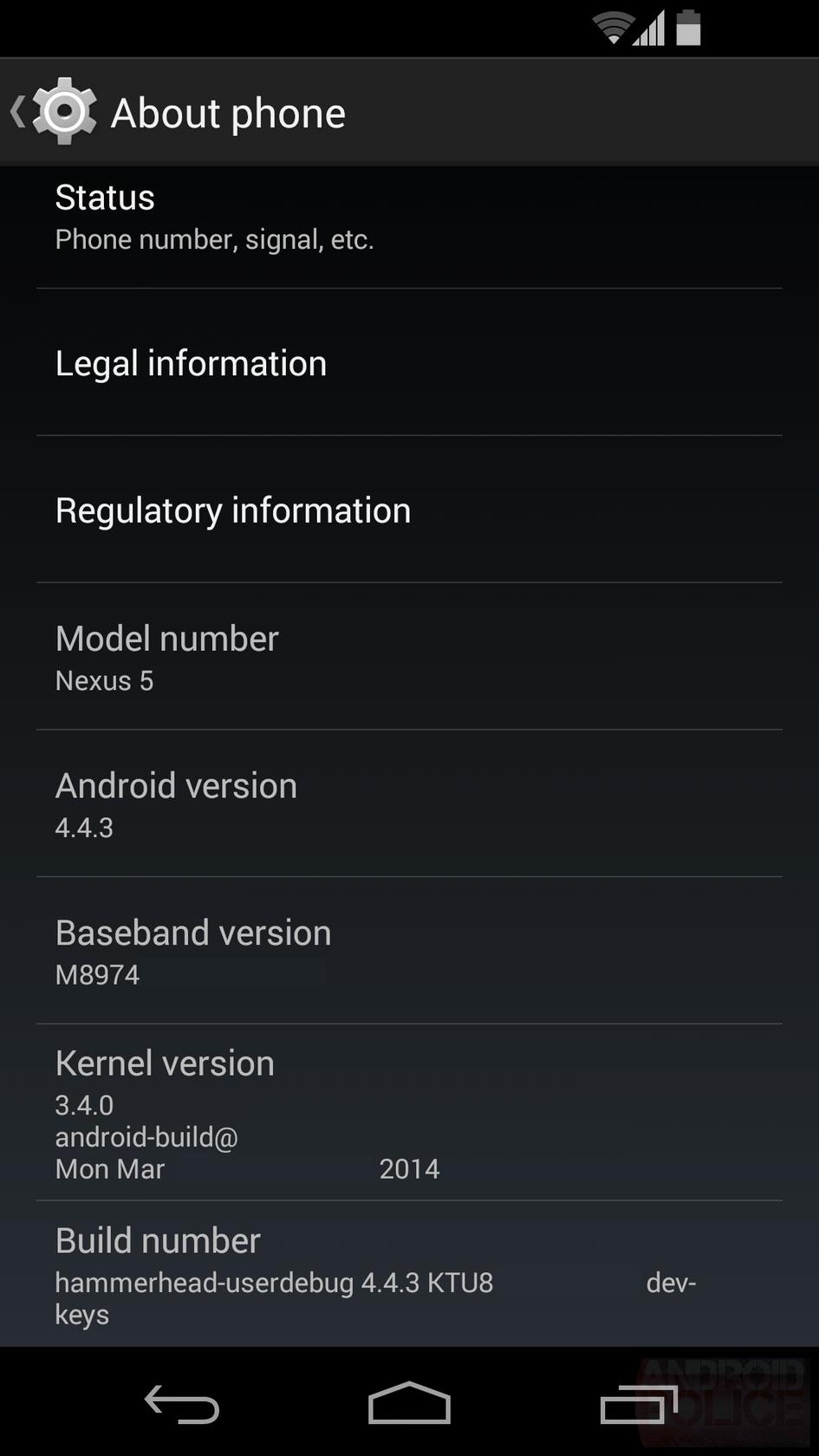 Android 4.4.3 : 20 corrections de bugs déjà repérées ?