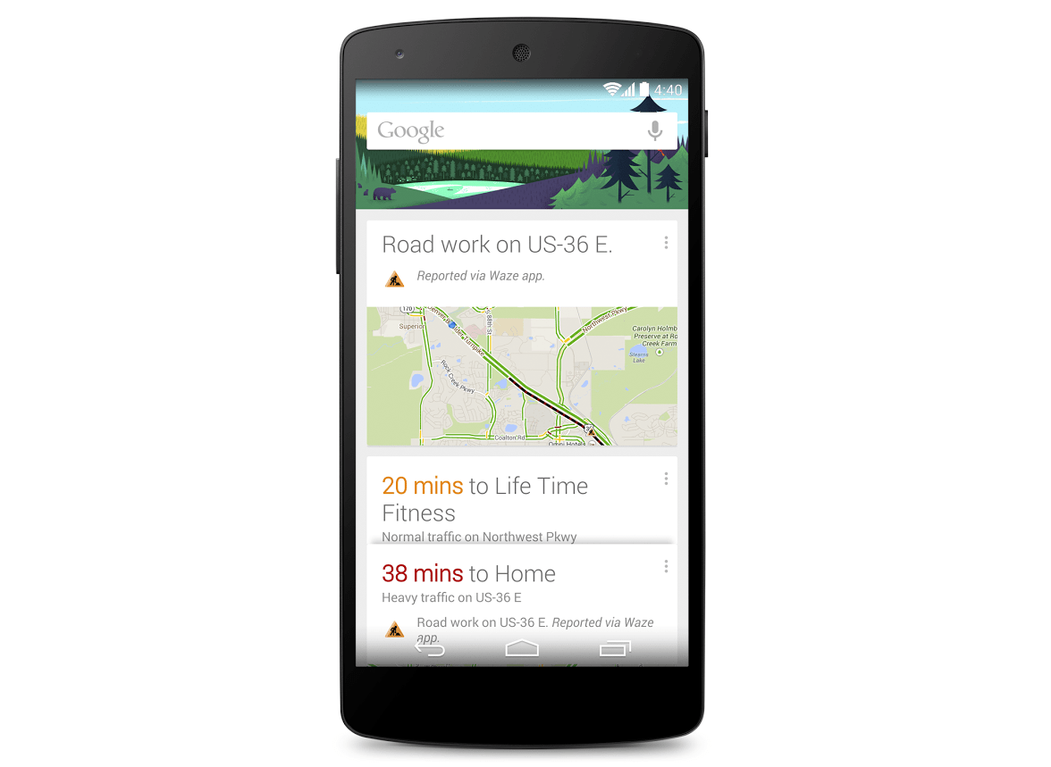Google Now affiche maintenant les incidents routiers