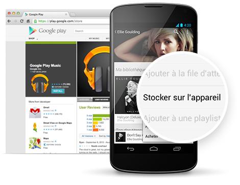Google Play Musique : le mode hors-ligne s'étend aux radios (mix instantanés)