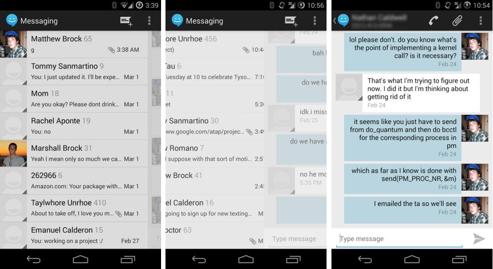 Sliding SMS : l'appli message de CyanogenMod sur Android