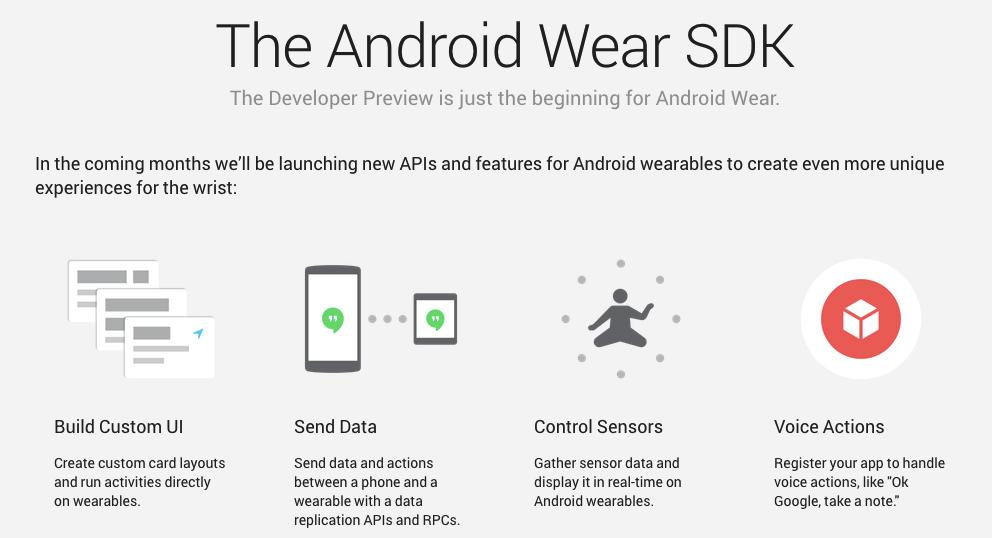 Retour sur le SDK d'Android Wear et son interface utilisateur