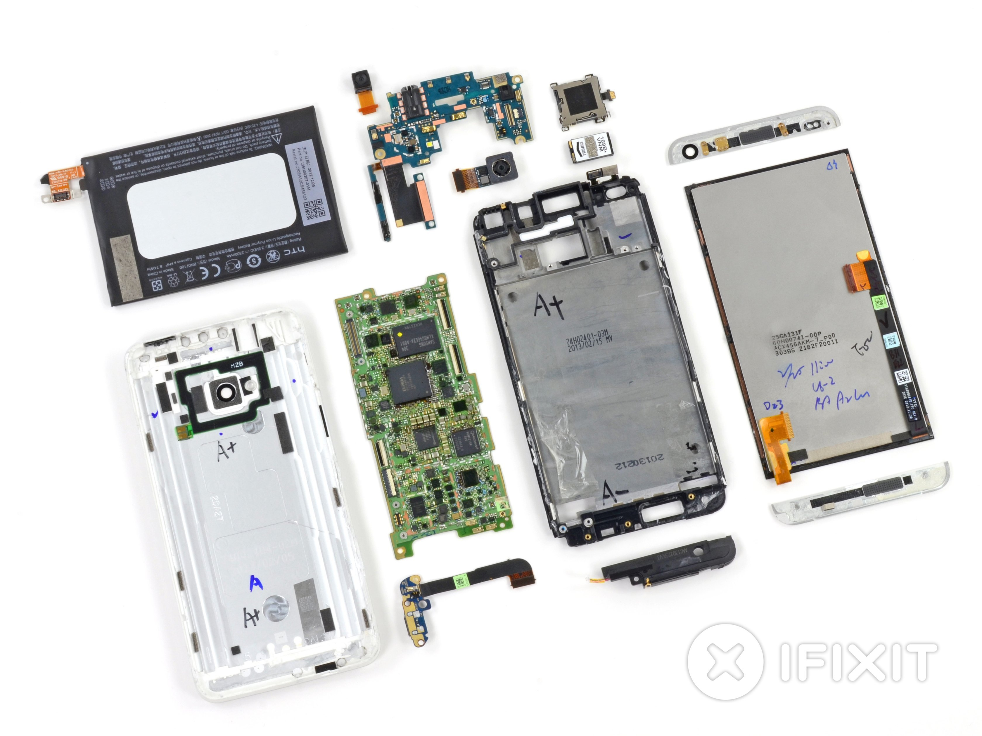 iFixit démonte le HTC One M8 et lui attribue une note très salée