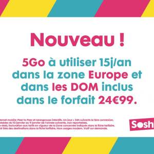 Au tour de Sosh de proposer du roaming depuis l'Europe et les DOM