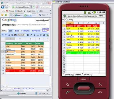 QuickOffice sur Android