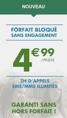 B&YOU lance un forfait bloqué à 4,99 euros par mois