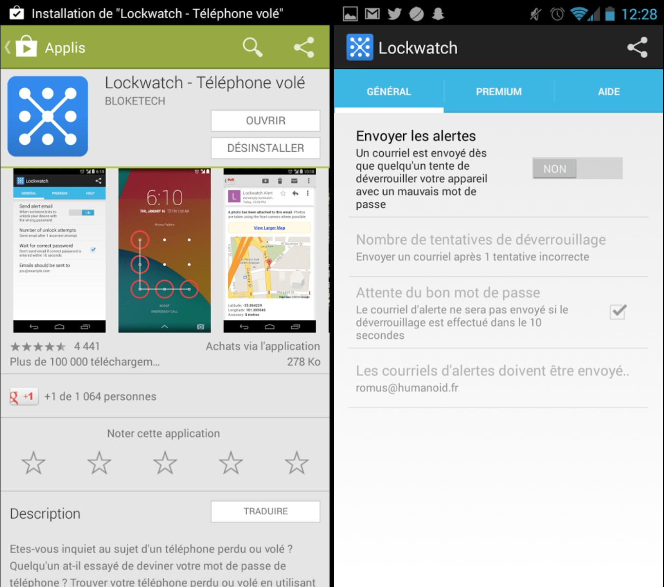 Lockwatch, un anti-vol pour votre smartphone