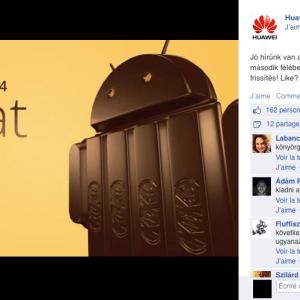 Le Huawei Ascend P6 passera à KitKat en mai