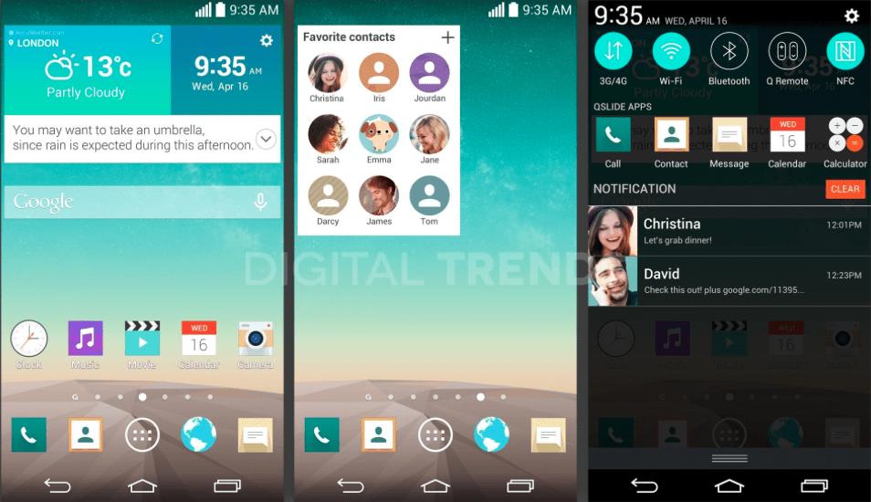 LG G3 : vers une interface retravaillée façon «flat» ?