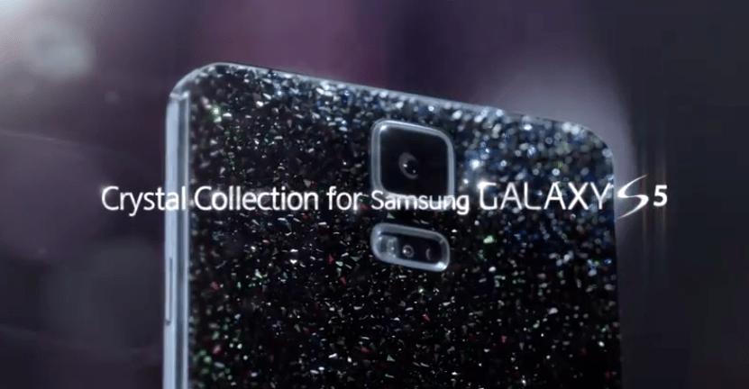 Un Galaxy S5 «Swarovski», smartphone tout de cristal serti