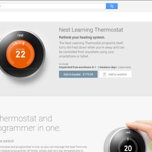 Le thermostat Nest est à vendre sur le Google Play aux USA et en Grande Bretagne