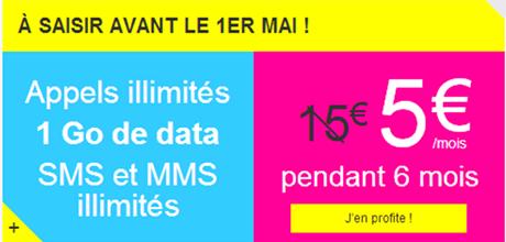 Joe Mobile : appels illimités, 1 Go de data, SMS et MMS illimités pour 5 euros par mois