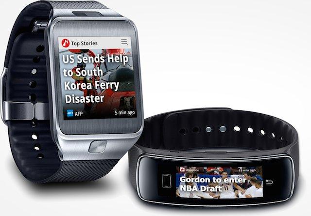 Samsung ne veut pas de Gear 2 et Gear Fit dépourvus d'applications