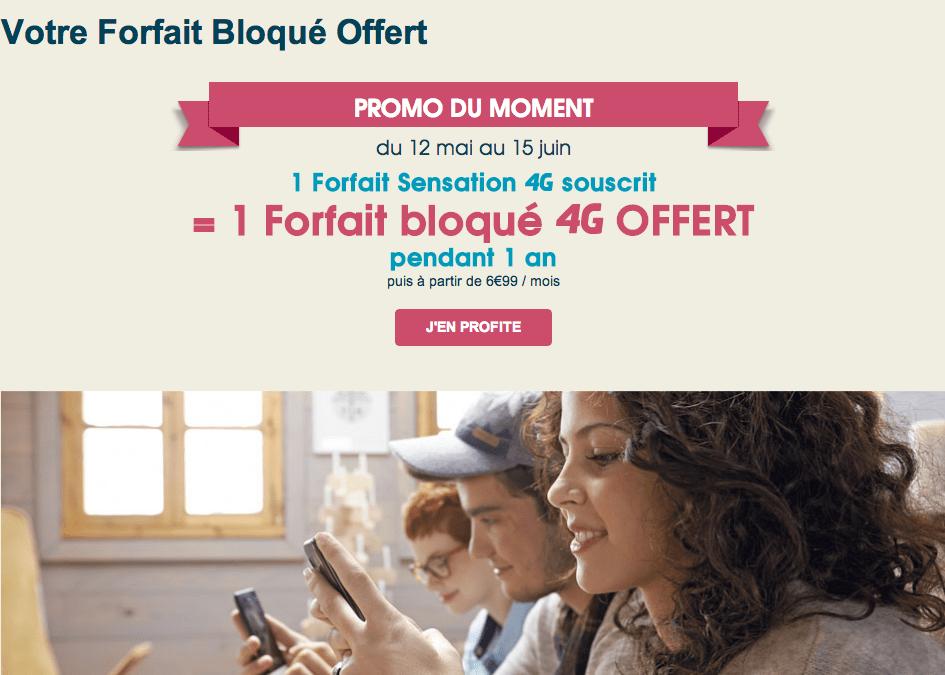 Bouygues Telecom offre un an de forfait bloqué 4G avec une offre Sensation