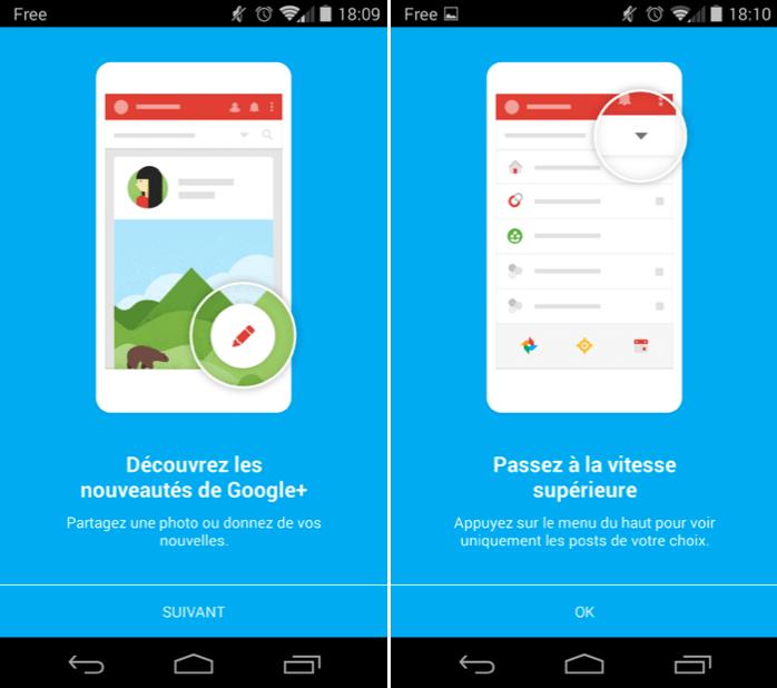 Google+ va recevoir une grosse mise à jour (APK disponible)