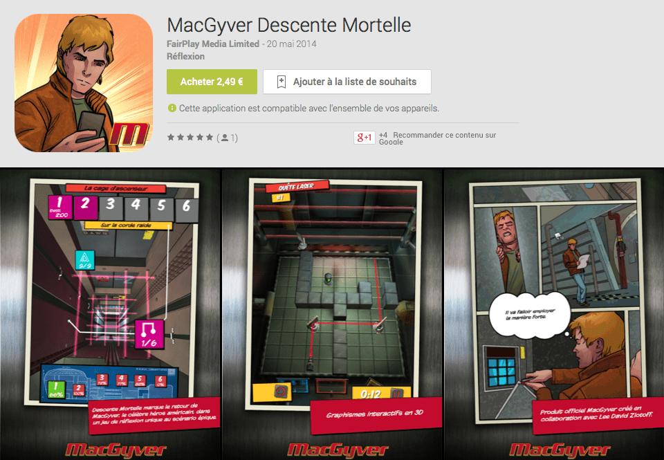MacGyver revient dans un jeu sur Android avec du charisme en moins