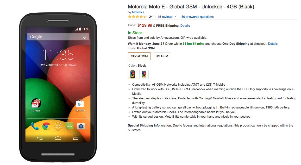 Les Motorola Moto E et Moto G LTE disponibles dès le 3 juin aux Etats-Unis