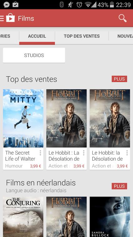 Google Play Films arrive enfin en Belgique et en Suisse !