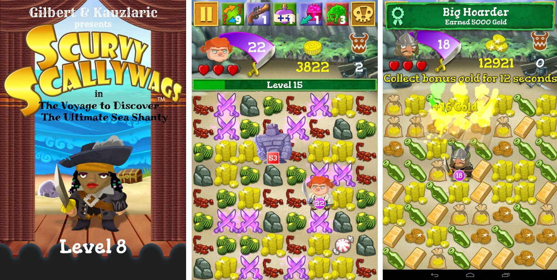 Scurvy Scallywags : un Candy Crush-like à la sauce pirate enfin sur Android