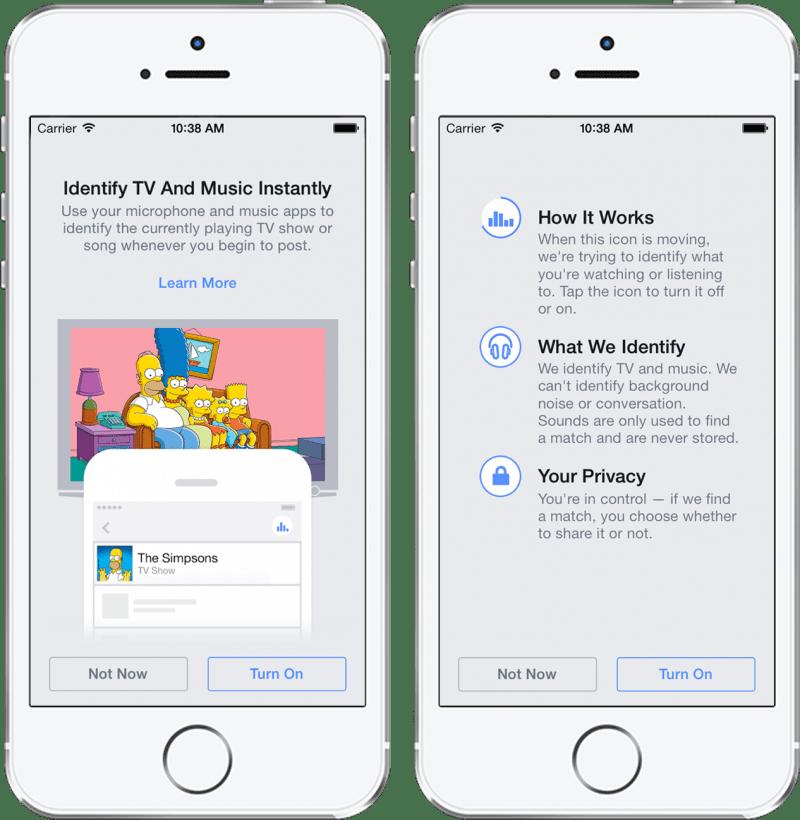 Facebook va lancer un Shazam-like capable d'identifier musique, films et séries TV