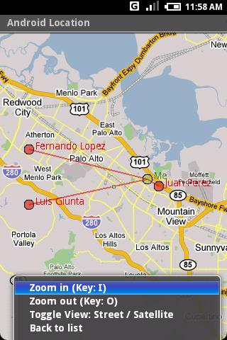 Android Location et la ville devient réseau