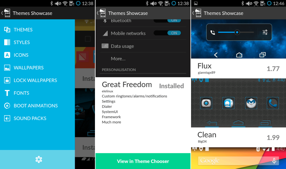 Cyanogenmod dévoile l'application Cyanogen Theme Showcase pour Android