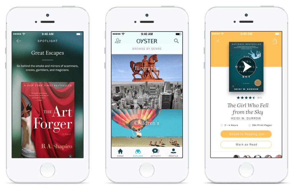 Oyster, le «Spotify du livre» est enfin sur Android