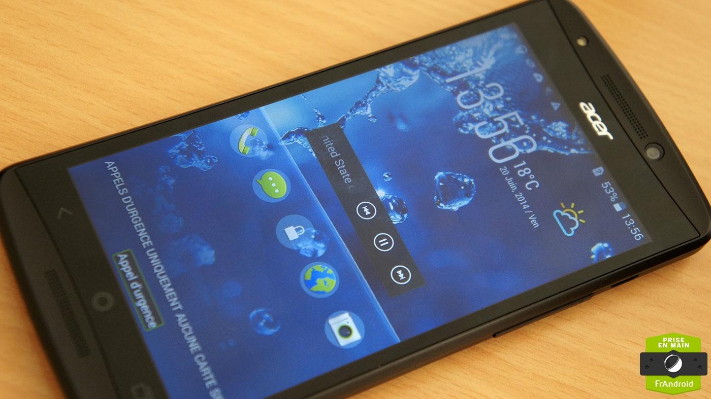 Prise en main de l'Acer Liquid E700 (avec sa batterie de 3500 mAh)