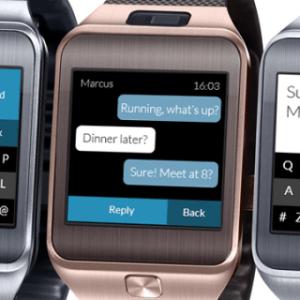 Fleksy propose un nouveau clavier pour la Samsung Gear 2