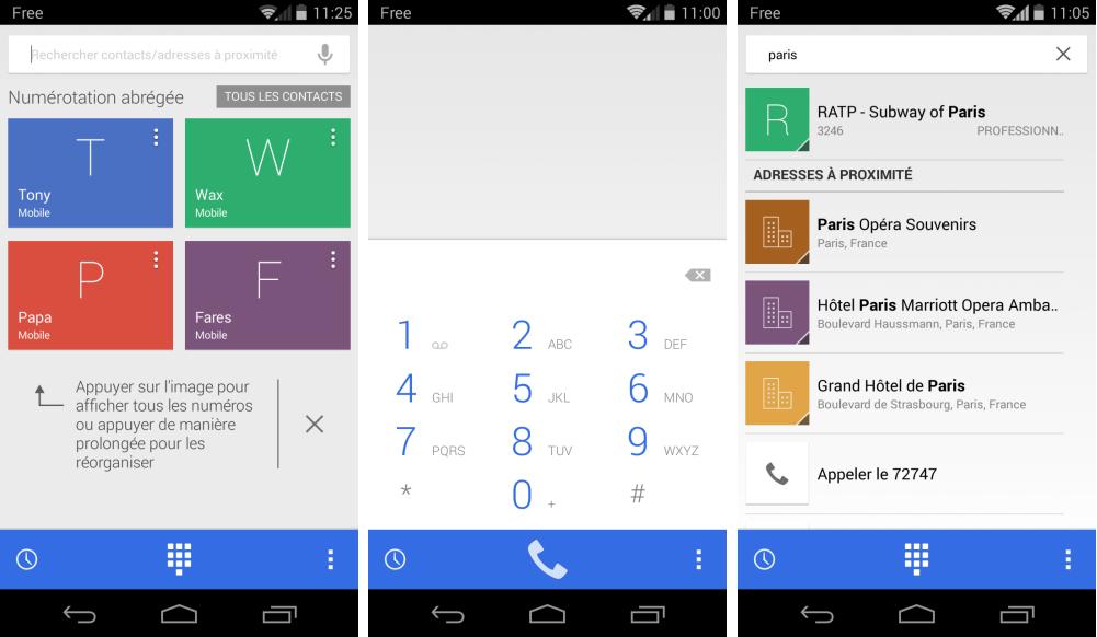 Google Dialer 1.1 : l'app Téléphone se met à jour avec Android 4.4+