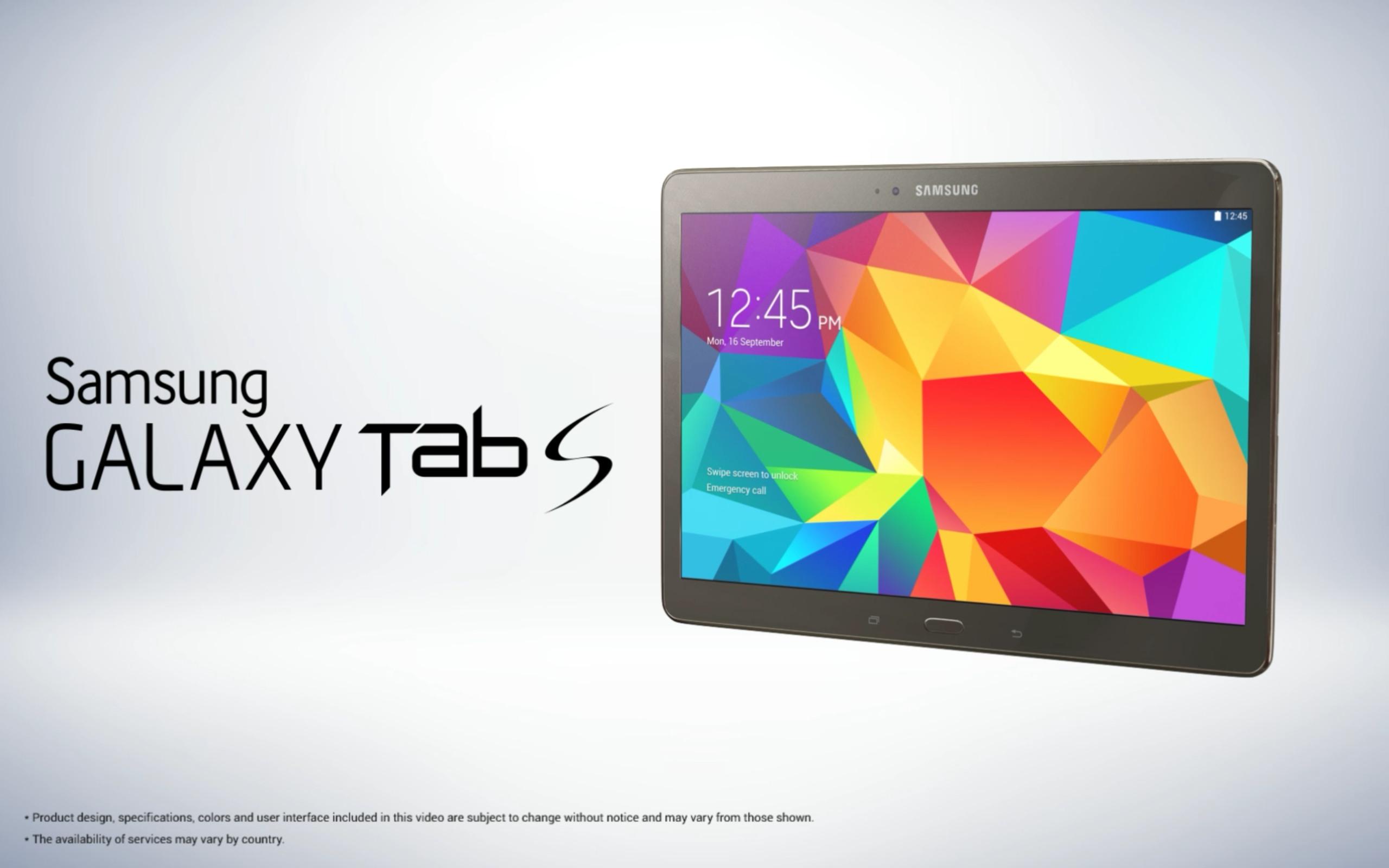 La Samsung Galaxy Tab S se dévoile de très près sur de nouveaux visuels