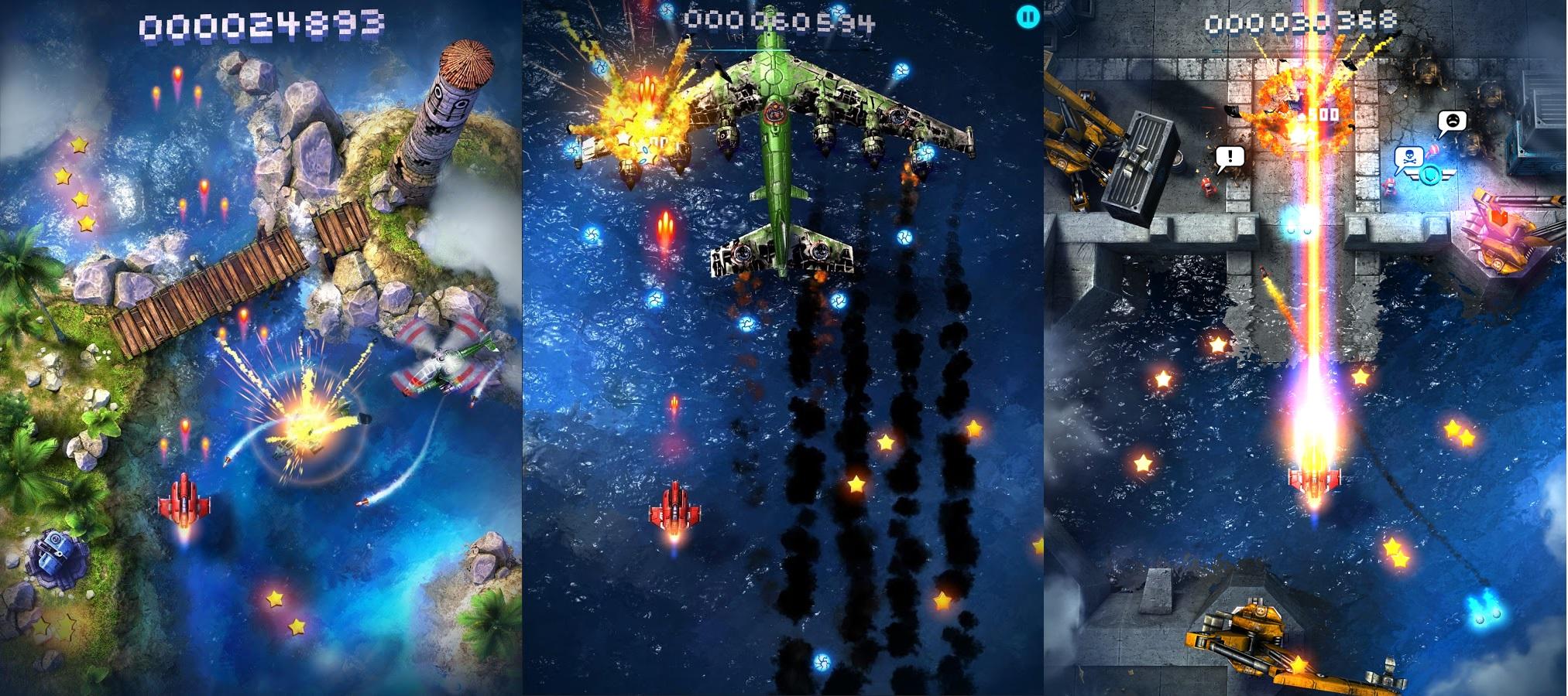 Sky Force 2014 : un shoot them up de toute beauté sur Android